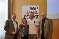 v. l. n. r.: Dipl.-Päd. Karl Toifl, Silvia Scholz, MR Dr. Georg Pfau, DI Dr. Leopold Wimmer
