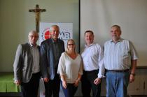 Foto (Scholz): v.l.n.r.: Leopold Wimmer (KMB-Vorsitzender), Johann Wimmer (Direktor Pastorale Dienste), Doris Weixelbraun (KMB Büroassistentin), Karl Toifl (KMB Vorsitzender-Stv.), Erich Hitz (KMB Geistlicher Assistent)