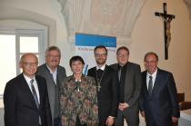Foto: Michael Schwarz, Leo Dirnegger, Lars Müller-Marienburg, Angelika Beroun-Linhart, Vorsitzende des Katholischen Akademikerverbandes, Referent Prof. Rudolf Leeb, Johannes Kranner